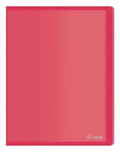 Dohe 91388 - Carpeta polipropileno con 30 fundas, flexible, color rojo ✅