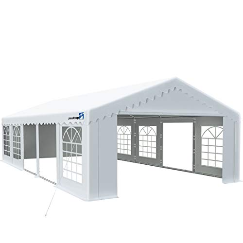 Peaktop Outdoor 16'X32' Party Tent Heavy Duty Wedding Tent Outdoor Gazebo Event Shelter Canopy with Carry Bags