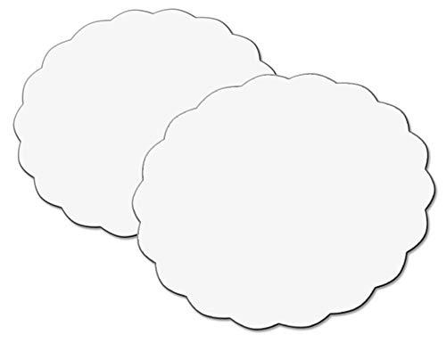 1 Paire Blanc Gardinia Arc Rond GE1 avec Queue Blanche 13,5//13,5 cm