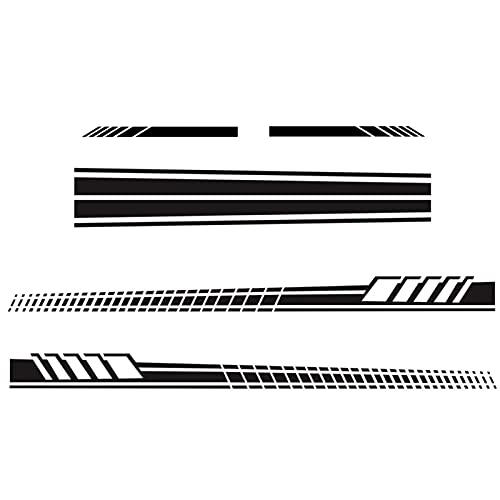 Facynde 5pcs Cappuccio Auto Autoadesivo Adesivi Decorativi Impermeabili della Striscia Laterale del Corpo Fai da Te Decalcomania Grafica Vinyl Paster Auto Vista Posteriore Autoadesivi Specchietto