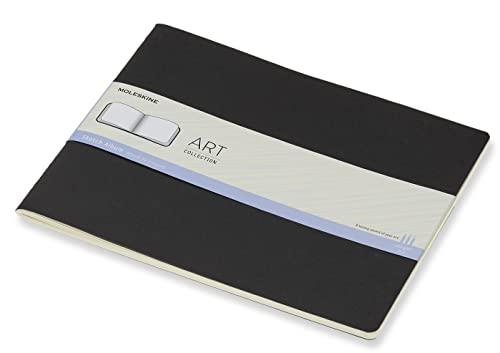 Moleskine - Art Collection Sketch Album, Cuaderno para Dibujar con Tapa Dura, Papel Apto para Lápices, Bolígrafos y Carboncillo, Negro, XXL 21.59 x 27.94 cm, 88 Páginas