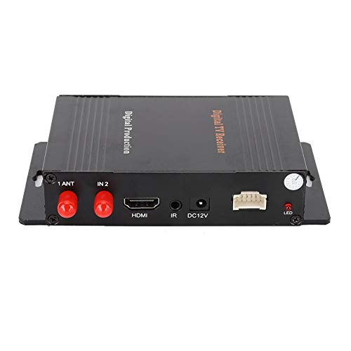KIMISS TV Tuner Box, Récepteur TV numérique puissant et fonctionnel DVB-T MPEG-4 Dual Antenna Tuner Box Auto Car Accessory