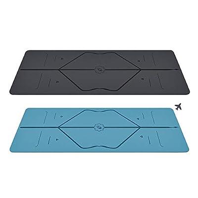 Liforme Yoga Mat & Travel Mat Bundle Gray/Blue