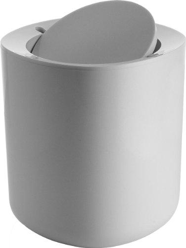 Alessi PL10 W Birillo Abfallkorb, weiß, 18, 5 x 18, 5 x 21 cm