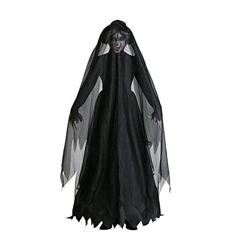 DUORUIMI Disfraz de vampiro de novia zombie, vestido de mujer, para Halloween,...