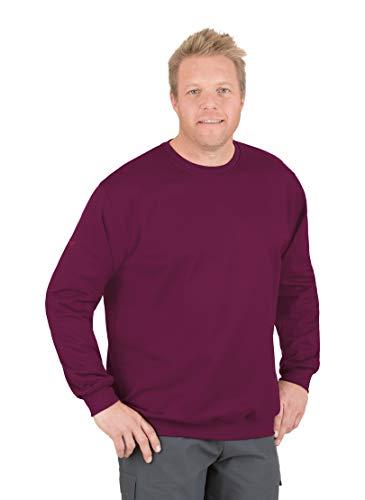 Trigema Herren Sweatshirt 674501 Sweat-Shirt, Rouge (Sangria 89), XXXL Homme