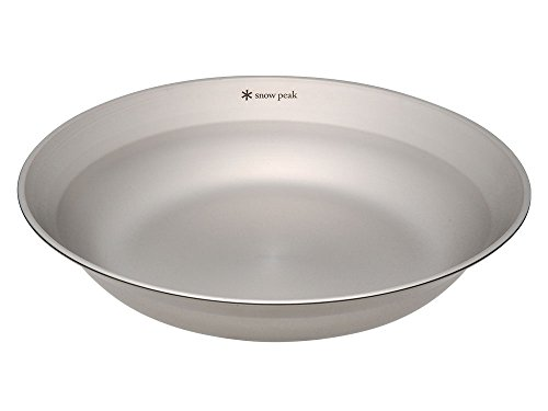 Snow Peak's Tableware Dish, TW-032, Stainless Steel, Lightweight for Camping Everyday Use, Made in Japan, Lifetime Product Guarantee