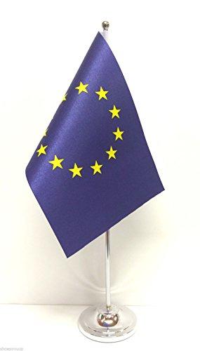 Unión Europea (UE) satén de la bandera de Base cromada de escritorio juego de banderines