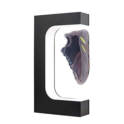 MKULOUS Acrílico Expositor De Zapatos De Levitante Magnético Rotación De 360° Centros Comerciales Levitante Magnético Expositor De Zapatos, 44 * 23 * 7CM