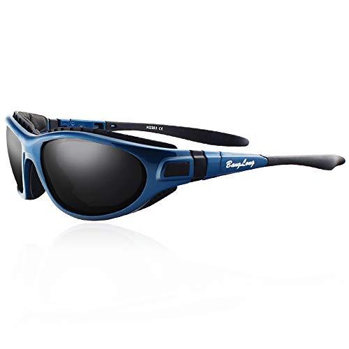 BangLong Sport Sonnenbrille Polarisiert Sonnenbrille Fahrradbrille Sportbrille Antikollision für Herren und Damen Outdooraktivitäten wie Radfahren Autofahren Laufen Angeln UV400