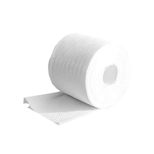 TOPBATHY 1 rollo toallas faciales secas desechables desmaquillante de tejidos limpieza algodón desechable tejido facial toalla facial toallitas faciales para niña hombre mujer
