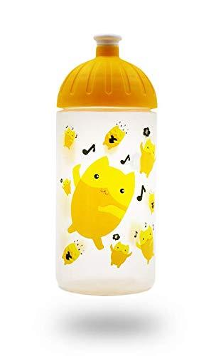 ISYbe Original Botella de Bebida para niños, 500 ml, sin BPA, Motivo Emoji, para Viajes-Escolares-jardín de Infancia-Ocio, a Prueba de Fugas, también con Gas, Apto para el lavavajillas