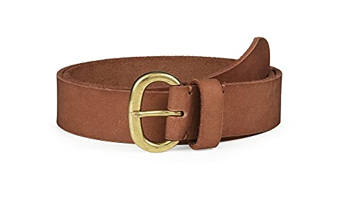SYMOL Cinturón Mujer Cuero 100% Cinturones3.4cm Cowboy Western RetroEstilo para Jeans & Pantalones Casuales,Tallas Grandes 110-160cm (marrón, Cintura90-95CM (total 110cm))