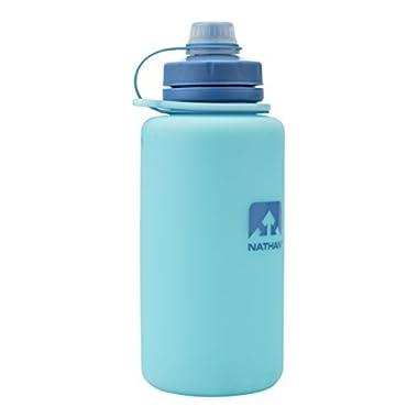 Nathan NS4329 Flexshot Soft Silicone 34oz Narrow & Wide Mouth Bpa Free Water Bottle