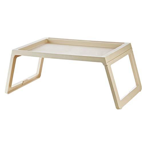 JIAHE115 eenvoudige klaptafel HJCA tafel - draagbare klaptafel slaapbank om te leren en te klappen van de poten - grijs/beige outdoor camping utility tafel
