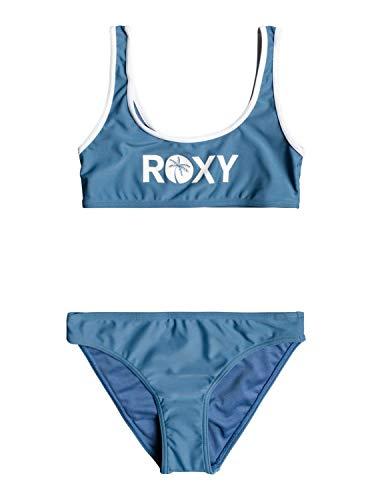 Roxy Surf Time - Conjunto de Bikini Bralette - Chicas 8-16 - 8 - Azul