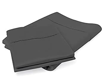 800 Thread Count 100% Egyptian Cotton Pillow Cases Dark Grey Standard Pillowcase Set of 2 Long-Staple Combed Pure Natural 100% Cotton Pillows for Sleeping Soft & Silky Sateen Weave Bed Pillow Cover