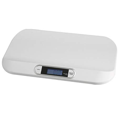 DPPAN Digital Báscula Bebe, electrónica multifunción Báscula Evolutiva, Capacidad máxima de 20 kg / 44 LB, precisión 10 g,White