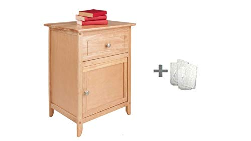 Winsome Eugene Accent Table, Clear Lacquer + Freebie