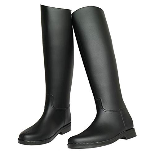 LWZ Botas de Lluvia Negras para Mujer, Botas Altas de jardín para Exteriores, Zapatos de Lluvia Ligeros e Impermeables