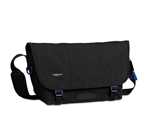 Timbuk2 Messenger Bag Flight Classic, Unisex, 1080, Jet Black/Blue Wish, Größe S