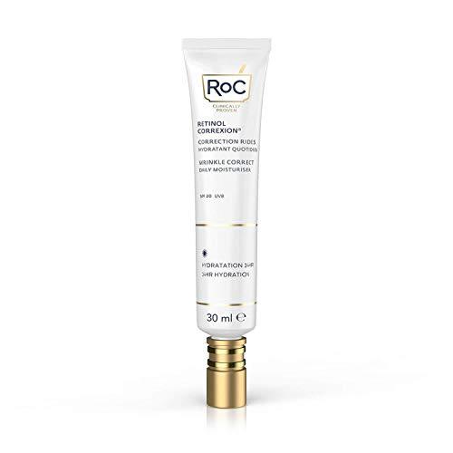 RoC - Retinol Correxion Wrinkle Correct Tagespflege SPF 20 - Gesichtscreme mit Retinol und Vitamin E - Anti-Falten und Aging - 30 ml