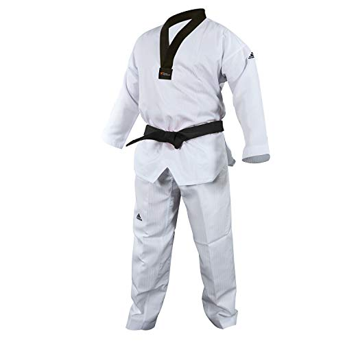 adidas Taekwondo Dobok, Black-V, WTF Approved