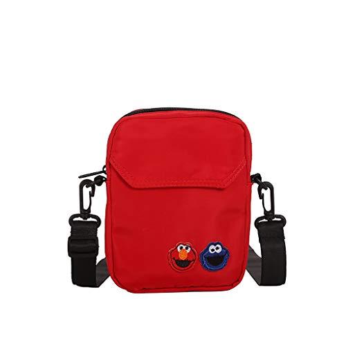 Mitlfuny handbemalte Ledertasche, Schultertasche, Geschenk, Handgefertigte Tasche,Frauen Nylon Joker niedlichen Messenger Bag Umhängetasche kleine quadratische Tasche