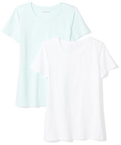 Fashion Shopping Amazon Essentials Women's 2-Pack Classic-Fit Short-Sleeve Crewneck T-Shirt