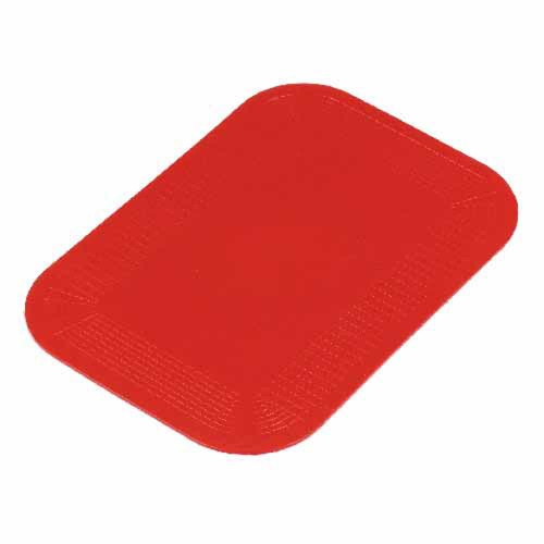 Antislip onderlegger van Dycem-materiaal (rechthoekig). 35x25 cm rood