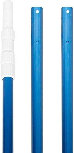 U S Pool Supply Professional 15 Foot Blue Anodized Aluminum Telescopic Swimming Pool Pole Adjustable product image