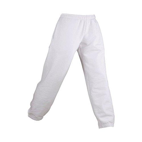 JAMES & NICHOLSON Jogginghose aus formbeständiger Sweat-Qualität (M, white) für Kinder