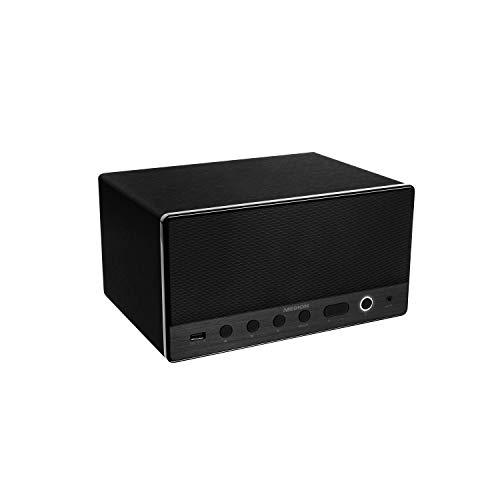 MEDION P61071 Multiroom Lautsprecher (Internetradio (über App),Spotify Connect, WLAN/WiFi, DLNA, USB, AUX, integrierter Subwoofer) schwarz