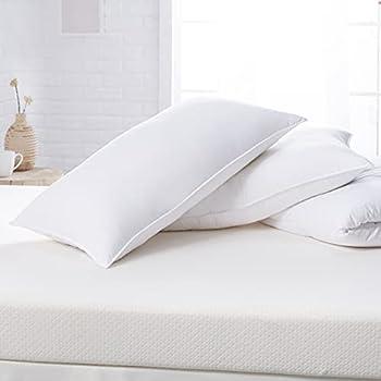 Amazon Basics Down Alternative Bed Pillows - Medium Density King 2-Pack