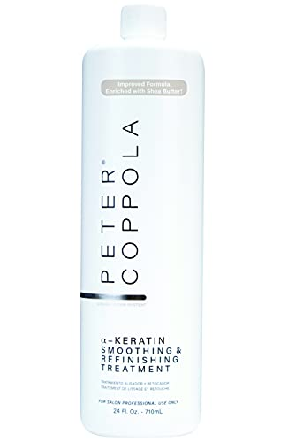 Peter Coppola a-Keratin Smoothing & Refinishing Treatment - Improved Formula Enriched with Shea Butter, 24 oz.