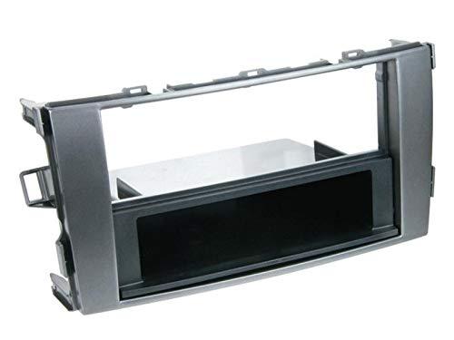 Facade Autoradio FA206 compatible avec Toyota Auris - Gris fonce
