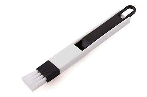 Blu-ray-Residenz Gap Brush, Mini Brush y Dustpan Herramienta de Limpieza multipropósito para Escoba y recogedor extraíbles, Negro