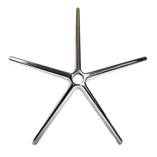 OfficeWorld Range Fusskreuz für Bürostuhl Aluminium in Chrom, Gasfederaufnahme 50 mm, Rollenaufnahme 11 mm, Belastbarkeit bis 180 kg