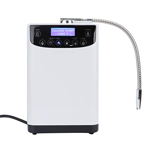 Diyeeni 9000L Purificateur d'eau ioniseur d'eau,Fonction de Nettoyage Automatique des électrodes Machine de l'eau alcaline de pH 4.5-10 pour la Maison, Le Bureau, l'école AC220 V(Bouchon UE)