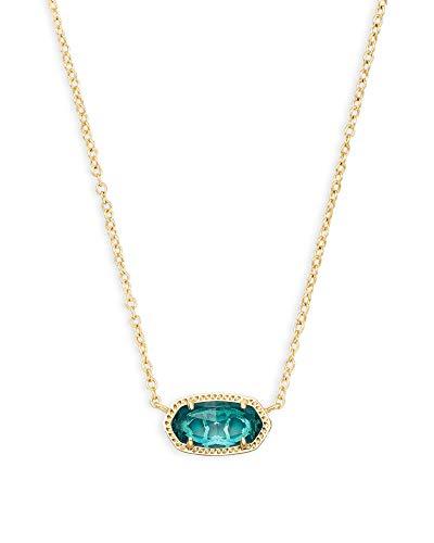 Kendra Scott Elisa Pendant Necklace in London Blue, 14K...