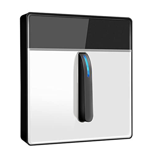 Interruptor de luz de vidrio templado Interruptor de luz tipo 86 Interruptor oculto Piano Key Switch Home Retro Doble control montado en la pared interruptor (color: blanco, tamaño: 1)
