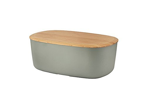 RIG-TIG by Stelton Z00038-3 Box-It Brotkasten, Melamin, Bambus, grau, 34,5 x 23,5 x 13,0 cm