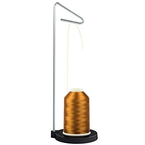 Fxlpower Soporte para hilo de bordar de metal, soporte de bobina, soporte universal para conos y bobinas, soporte de rosca, soporte de rosca, soporte de rosca ajustable para máquinas de coser y bordar