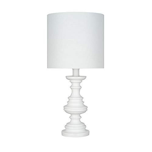 Amazon Brand – Ravenna Home Faux Wood Table Lamp, Bulb Included, 18'H, White