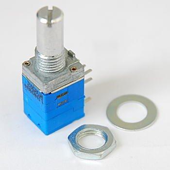 スイッチ付2連式ボリューム A特性 10kΩ