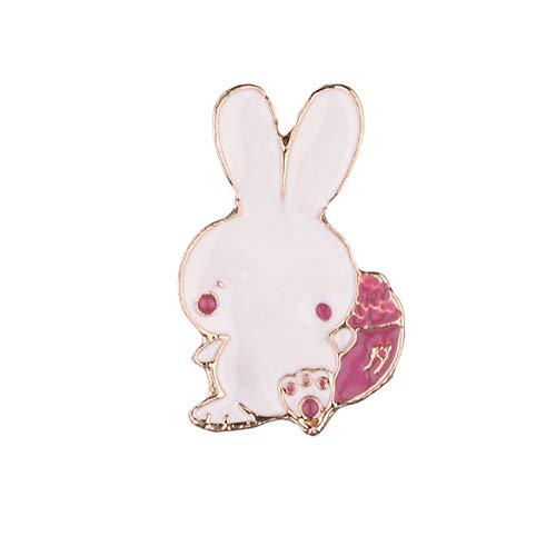 Weryffe - Broche con Forma de Animal, diseño de Dibujos Animados, para niños, cumpleaños o Regalo, aleación, Conejo, Höhe*Breite 2,6 * 1,6cm