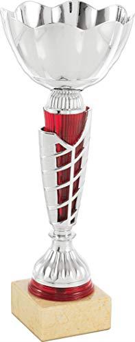 Art-Trophies AT81776 Trophée de Sport, Argent/Rouge, Taille Unique