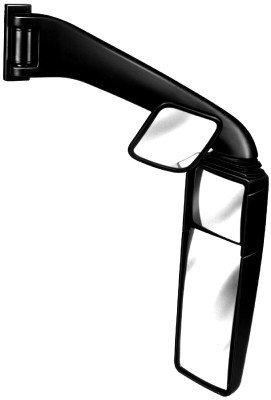 HELLA 8SB 501 246-892 Rétroviseur extérieur - 24V - électrique/manuel - Fixation en queue d'aronde - Boîtier plastique - noir - moyen - Largeur: 551mm - Hauteur: 661mm - droite