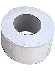 1 rollo/2 rollos de cinta de goma de butilo impermeable, autoadhesiva, cinta de reparación de lámina de aluminio para superficies de edificios, grietas, techo, tuberías, marinas