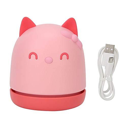 Aspirateur à ongles portable pour chats, mini aspirateur de bureau, Sweeper Home Desk Collecteur d'aspiration de poussière pour le nettoyage des poils, miettes, piano, Pet House (Rose)